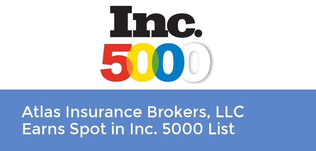 Atlas Insurance Brokers, LLC Earns Spot in Inc. 5000 List