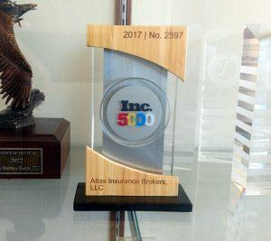 Atlas Insurance Brokers, LLC's Inc. 5000 Trophy