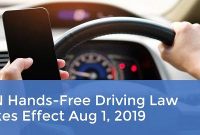 MN Hands-Free Driving Law Takes Effect Aug 1, 2019